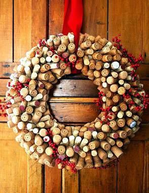 Fotos de Guirlanda de Natal com rolhas - como fazer