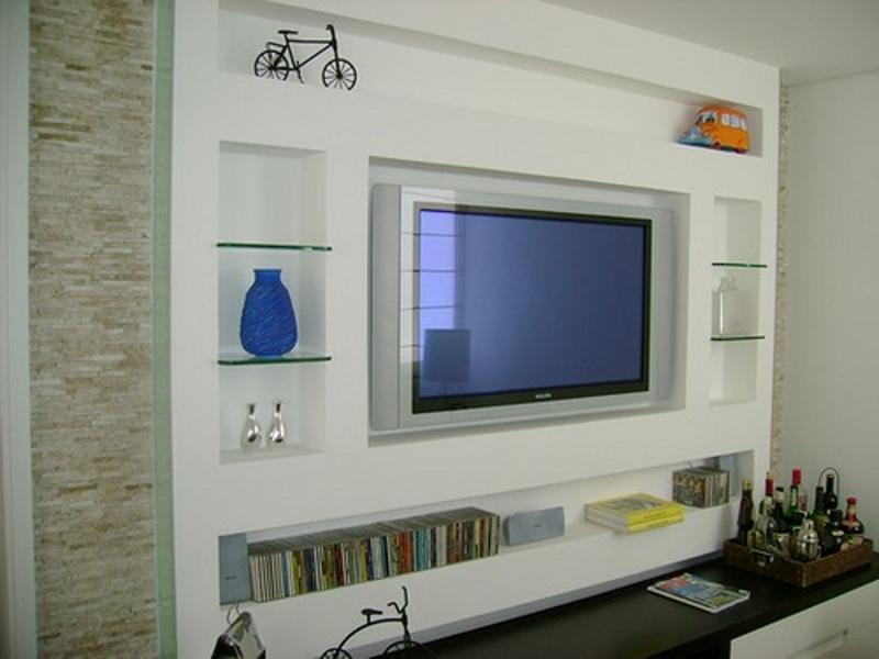 Gesso Pra Sala De Tv ~ Estantes, Paineis e Nichos  A Casinha de Gesso