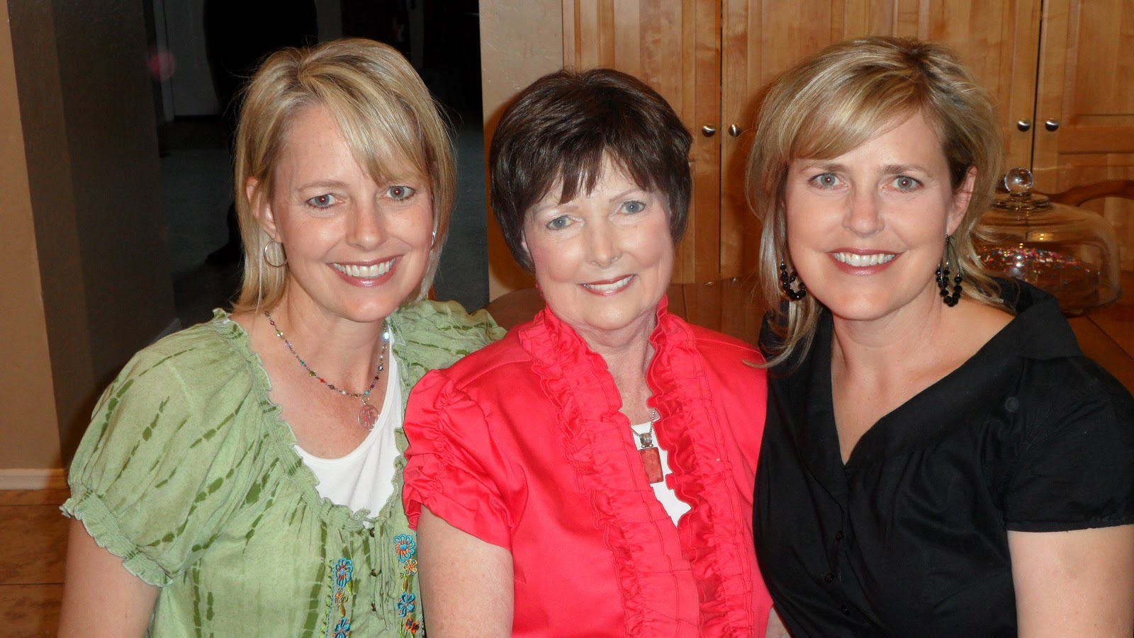 Gayla Garn Peterson, Irene, Dana Garn Garry (our daughters)