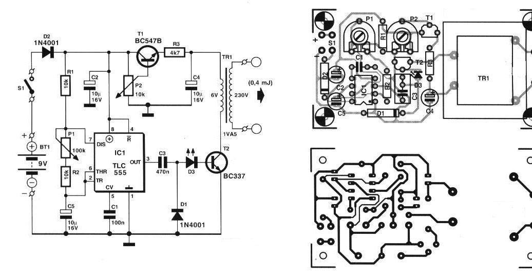 electronica circuitos diagramas   circuito electrificador