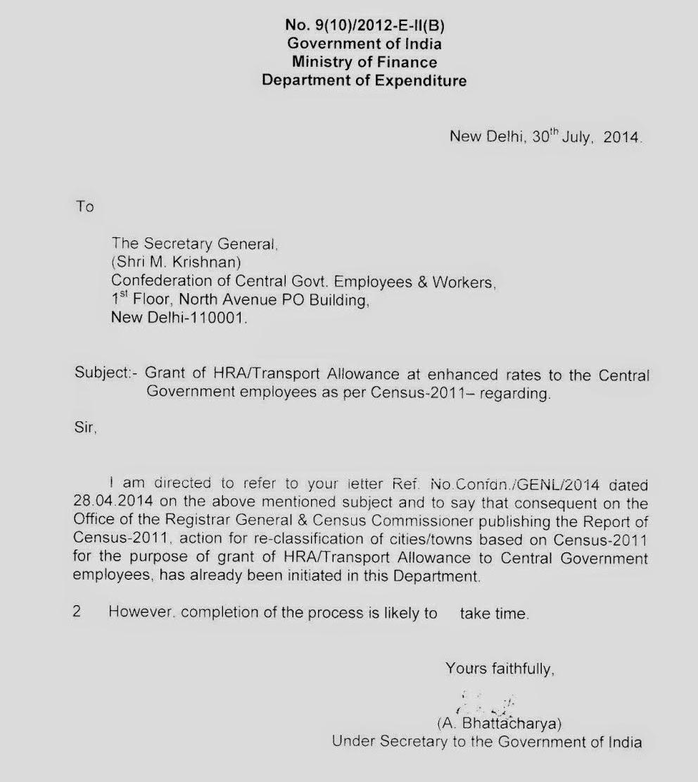 Aipeugr c bhubaneswar odisha grant of hra transport allowance grant of hra transport allowance at enhanced rates to the central govt employees as per census 2011 altavistaventures Gallery