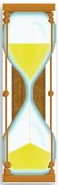 sanduhr, An alarm clock designed as an hourglass
