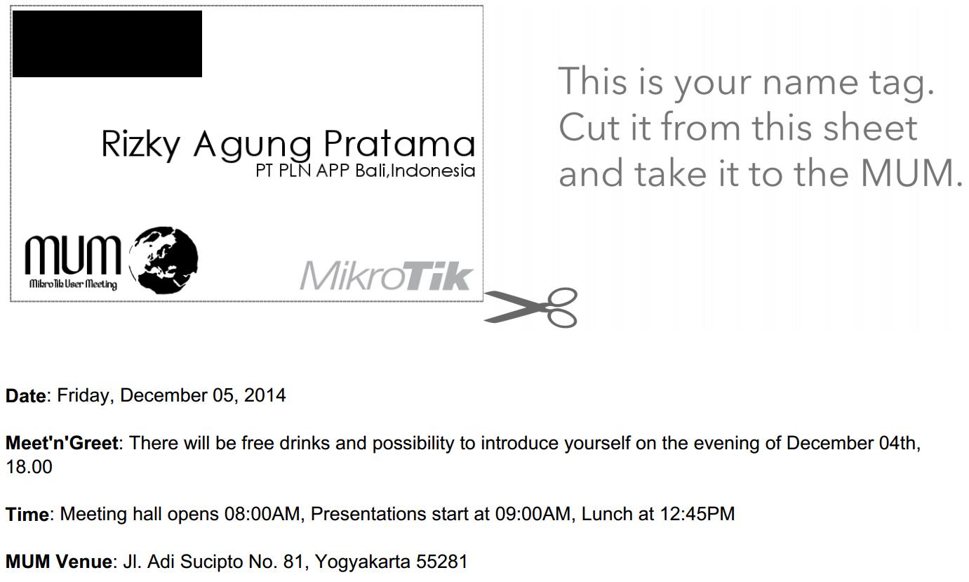 Ikuti Mikrotik User Meeting Yogyakarta - Des 2014 – Pusat Pengetahuan