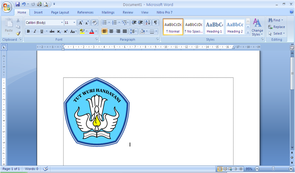 Cara Menghilangkan Warna Background Gambar Pada MS Word