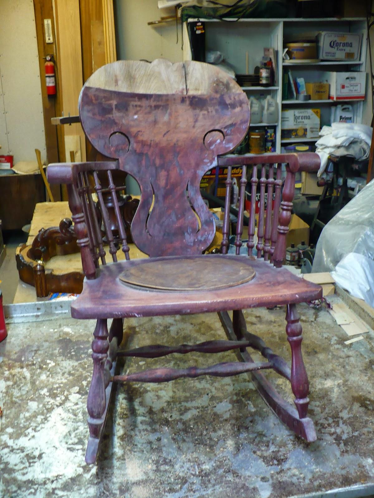 1910u0027s Mixed Wood Rocking Chair Restoration