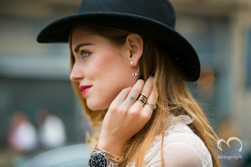 mitograph Chiara Ferragni Before Gucci Milan Fashion Week 2014 Spring Summer MFW Street Style Shimpei Mito