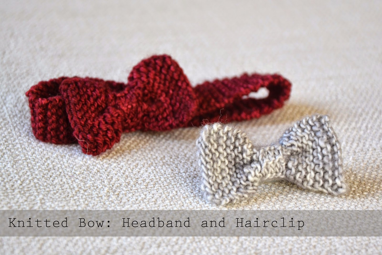 Spicy Jellybean Kids : A little freebie: Knitted Bow Headband and ...