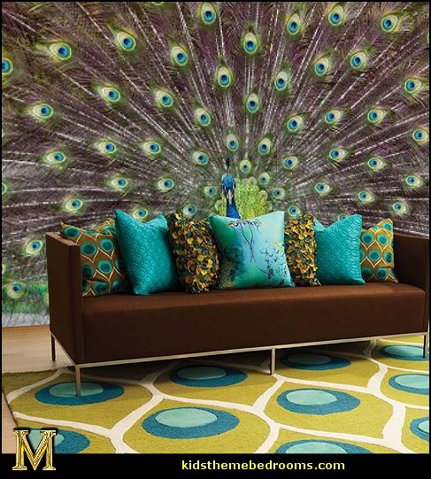 Majestic Peacock Vanilla Area Rugs