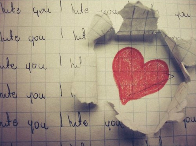 Corazón dibujado en un cuadriculado