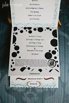 Wedding ceremony program - Posted by A Heavenly Ceremony
