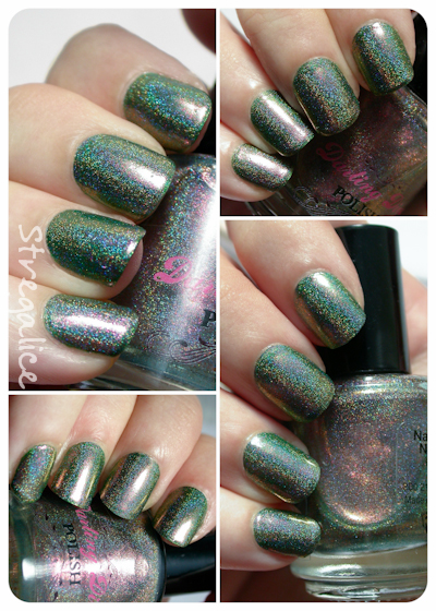 Darling Diva Space Beetle duochrome holographic swatch