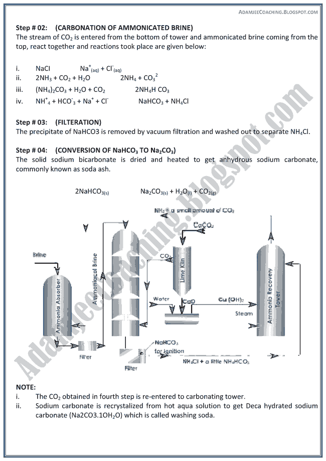 XII Chemistry Notes - S Block Elements