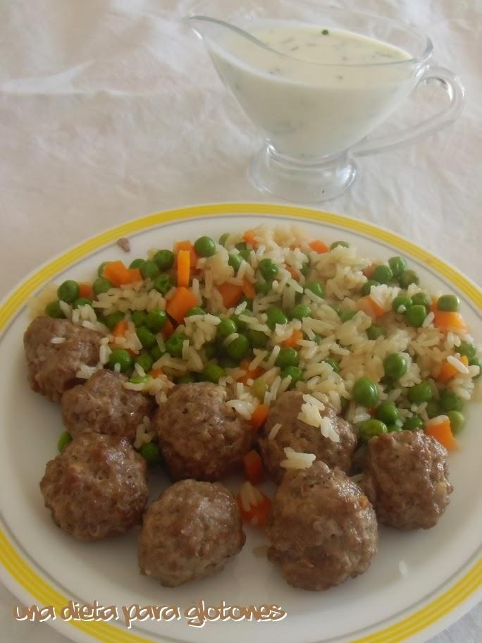 Dieta para glotones receta alb ndigas al jengibre con - Acompanamiento para albondigas ...