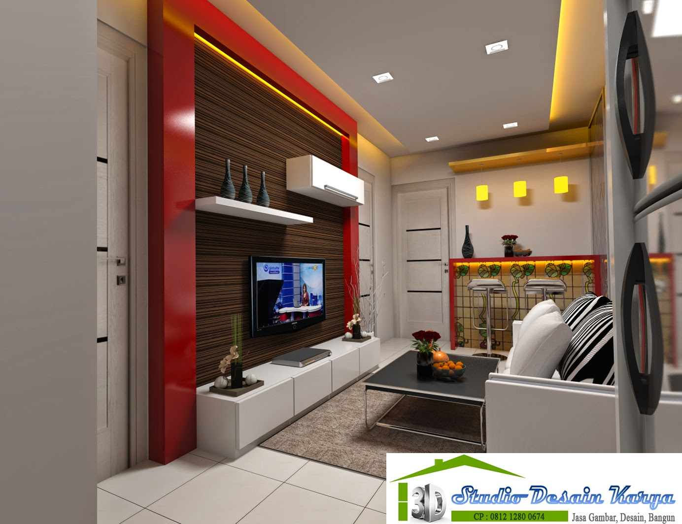 desain apartemen 2 bedroom | gambar desain rumah minimalis