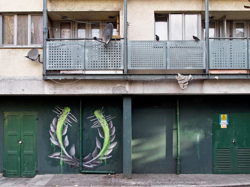 French artist Ludo recently visited London to make some final arrangements for his upcoming solo show in UK, and while he was there, he created some fresh street work.