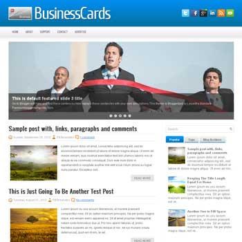 BusinessCard blog template. magazine blogger template style. magazine style template blogspot