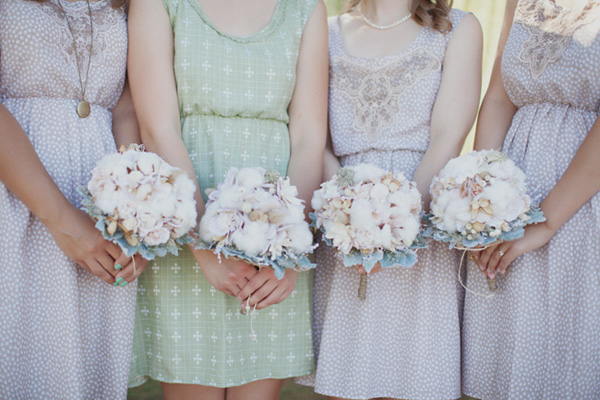 cotton bridesmaid flowers