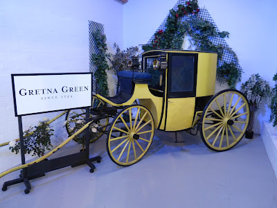 A travelling chariot in the museum at Gretna Green