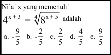 Soal Bahas Persamaan Dan Pertidaksamaan Eksponen Les Privat Matematika