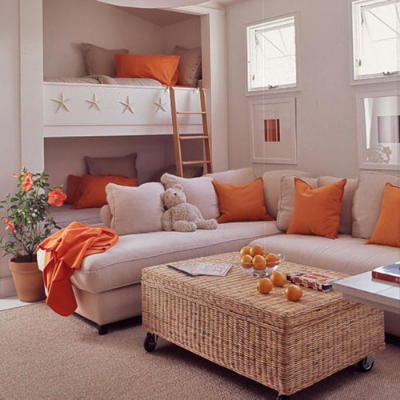 Sofa Pillows - Blog About Sofa Throw Pillows: Orange Sofa Pillows