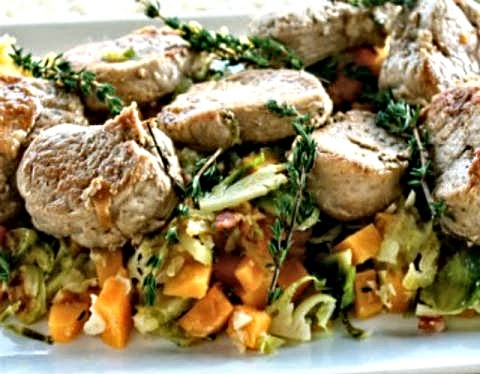 how to make healthy autumn pepper pork medallions easy recipe.