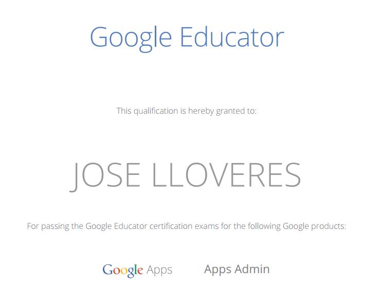 certificación Google Educator