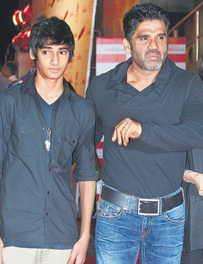 Sunil Shetty's son