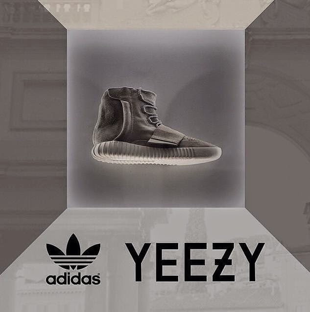 kanye west yeezy 750 boost NYFW yeezus kim kardashian fashion week runway adidas soho invite shoe sneaker