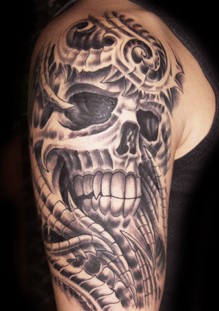 1990tattoos female skull tattoo designs for Female skull tattoos