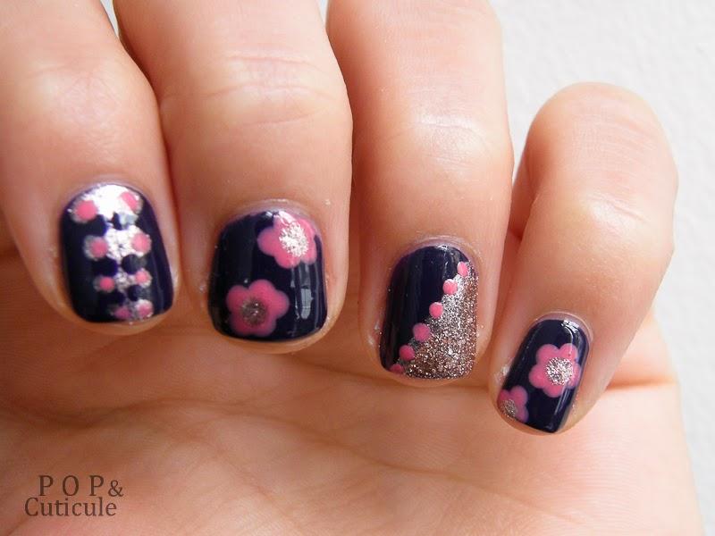 Pop & Cuticule Vernis GOSH Nail art facile fleur