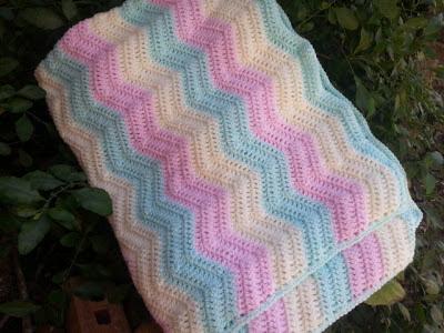 Easy Ripple Crochet Baby Blanket Pattern : easy crochet ripple baby blanket patterns Car Tuning
