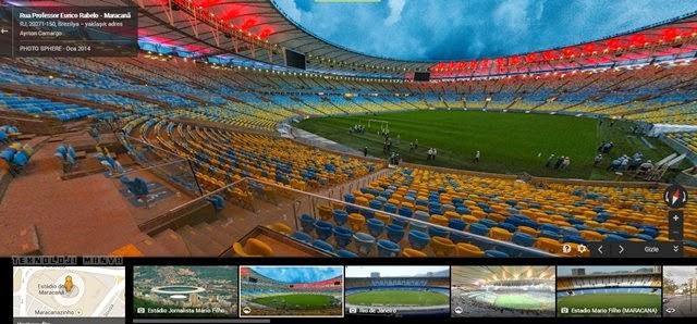 Google 2014 Dünya Kupası Stadları