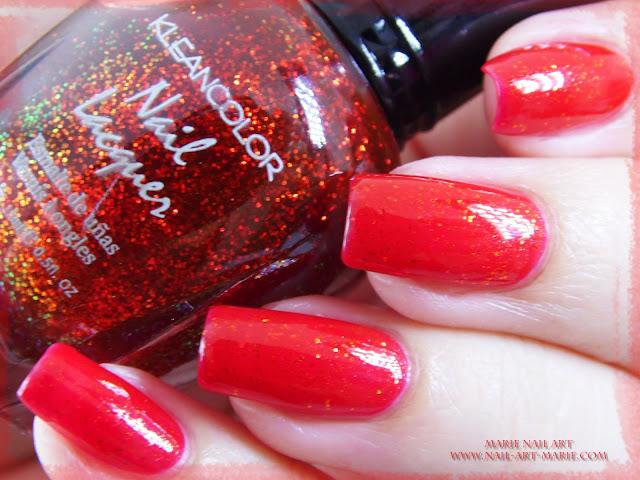 kleancolor chunky holo scarlet5
