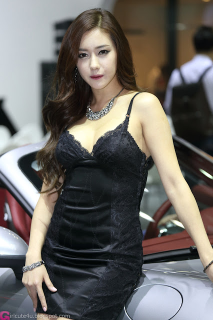 3 Kim Ha Yul - Seoul Motor Show 2013- very cute asian girl - girlcute4u.blogspot.com