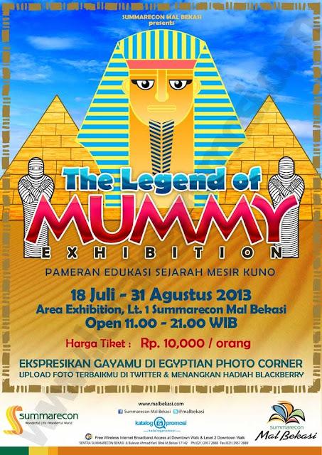 Promo di Summarecon Mal Bekasi pameran edukasi sejarah mesir kuno