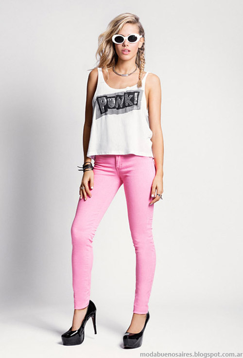Tabatha Jeans verano 2015 pantalones de colors jeans 2015.