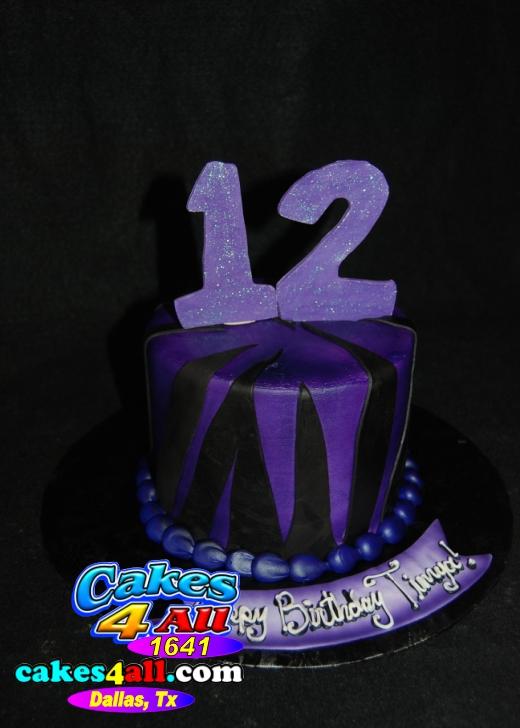 Cakes 4 All In Dallas Happy 12th Birthday Cake Dallas