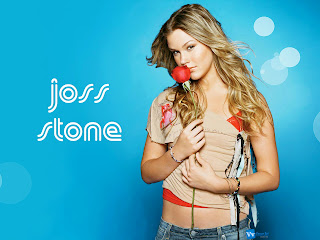 Joss Stone Holding Red Rose Bokeh Lights HD Wallpaper