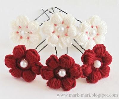 Схемы для вязания крючком: цветы на шпильки