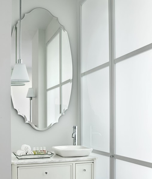 Iu0027d Say Most Bathrooms Have A Square Of Rectangular Mirror So Using A Round  Or Oval One Adds A Little Something Special.