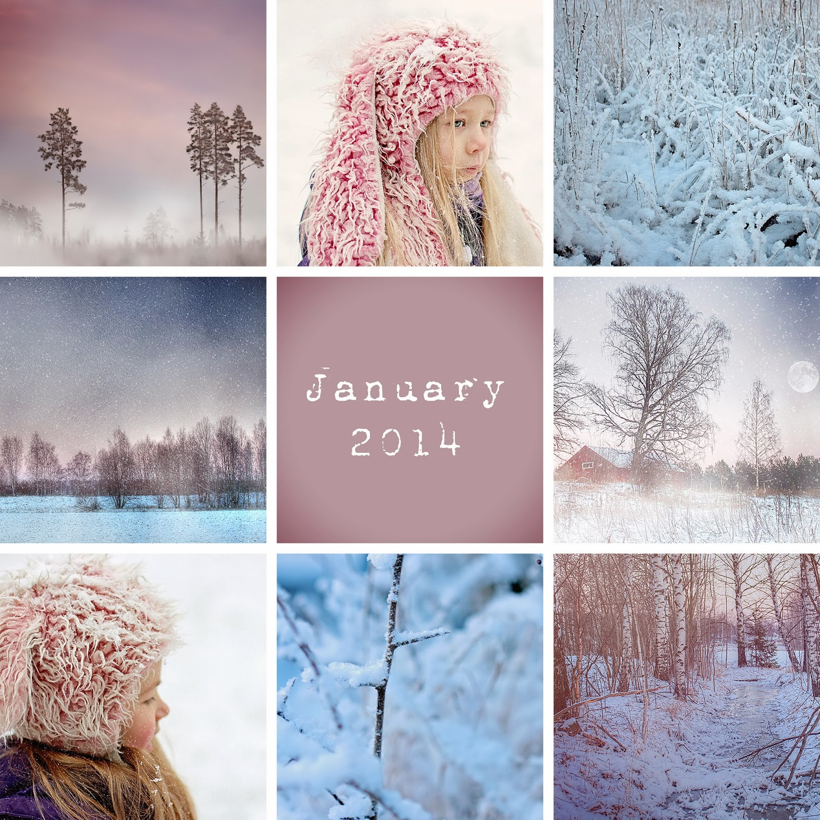 April Rose Calendar : Mona s picturesque january memories pure