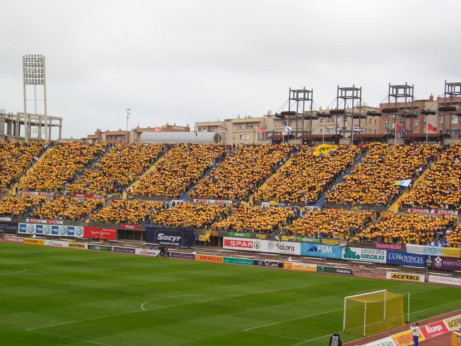 Mosaico en las gradas del estadio de Gran Canaria