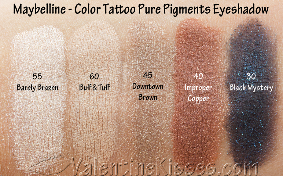valentine kisses maybelline color tattoo pure pigments