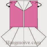 Bước 6: Gấp hai góc giấy về phía mặt đằng sau.