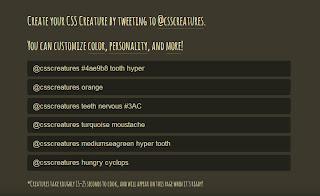 css creatures example twit