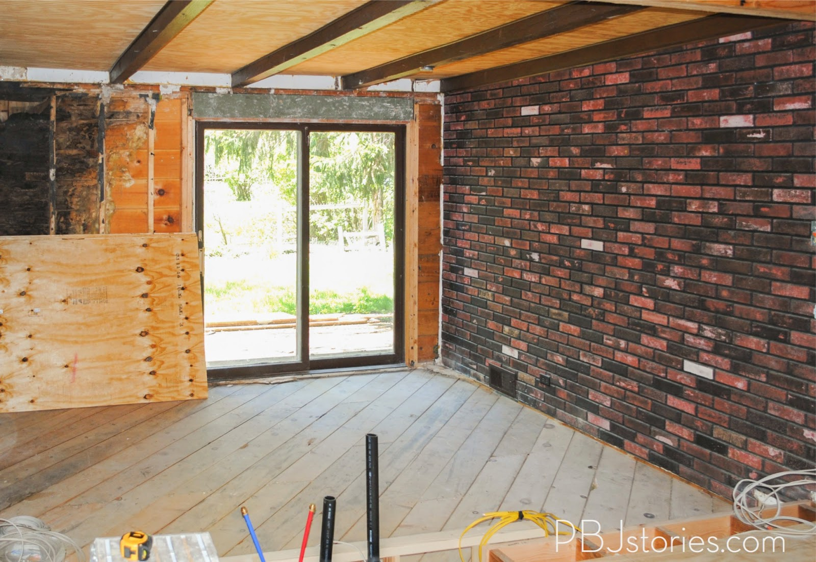 pbjstories: how to paint an interior brick wall | #pbjreno