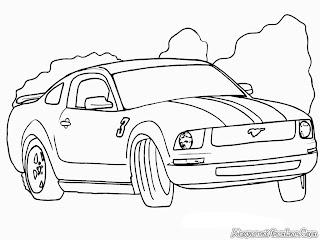 Mobil Ford Mustang Untuk Diwarnai