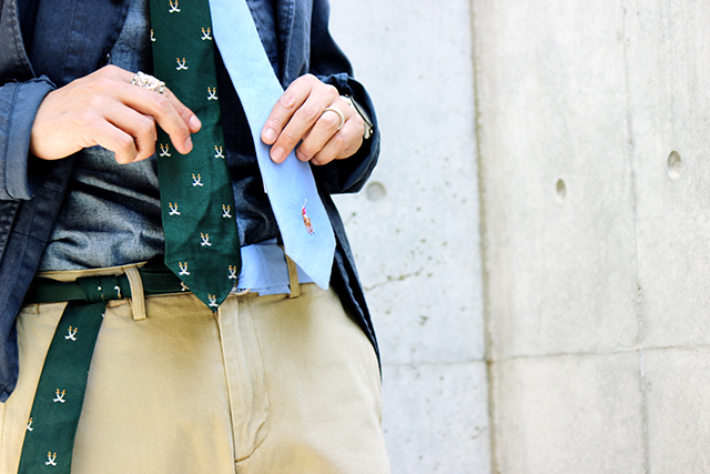 greenangle ga sewup remake necktie ringbelt hermes poloralphlauren グリーンアングル