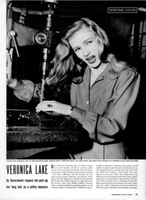 Image result for VERONICA LAKE WW2