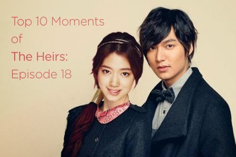 episode 18 of SBS′ The Heirs. Mnet revealed the Top 10 Moments for